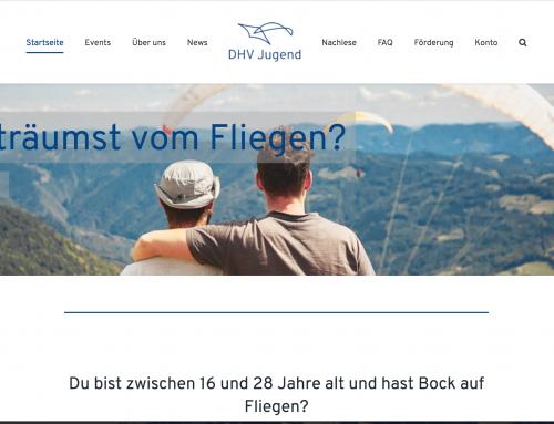 Neue Homepage – Neuer Account
